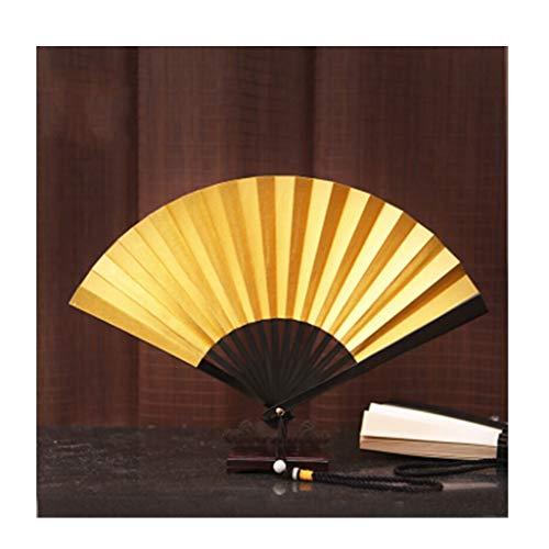 Faltender Handventilator, schwarzes Eisen-Fan-chinesisches Hochzeitsfest und Verschiedene Feriengeschenke (Color : A) -