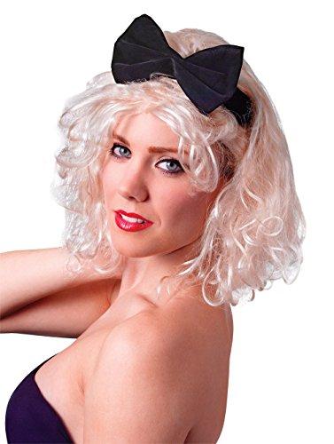 Bristol Novelty BW674 Material Girl Perücke, Damen beige Einheitsgröße (Madonna Fancy Dress Kostüm Ideen)
