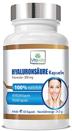 GANE hochdosierte Hyaluron Kapseln 300 mg I Nahrungsergänzungsmittel für Haut · Gelenke · Anti Falten | Hautstraffung I Gelenkschmiere I Hyaluron-booster I Gelenkflüssigkeit ()