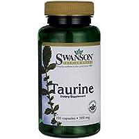Swanson - Taurine 500mg, 100 gélules de poudre (Taurine powder capsules)