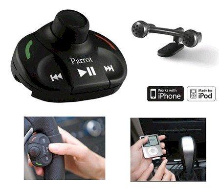 G.M. Production - PARROT MKi 9000 - Nuovo Italia - Kit Vivavoce Bluetooth MP3 USB iPod iPhone viva voce per automobile qualsiasi marchio [cavo dedicato per auto non incluso, connessioni ISO standard del prodotto]