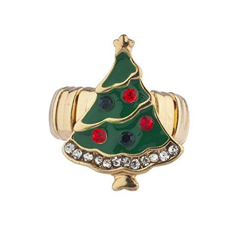 n festliches Weihnachten Xmas Tree Stretch-Ring (Angel Halloween-tumblr)