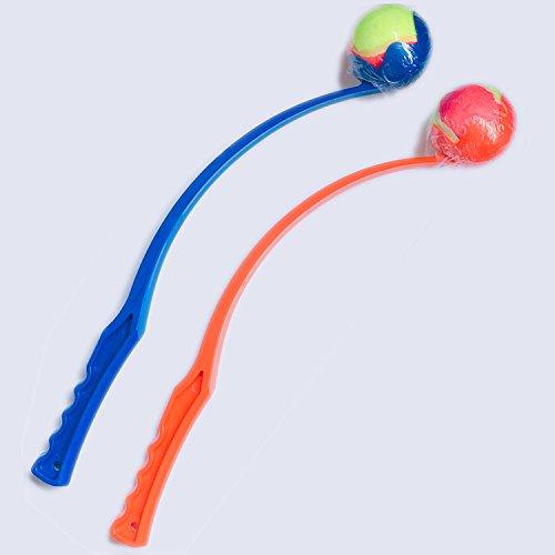 Ballwerfer für Hunde 2er Set - Das beliebteste Hundespielzeug - Ballschleuder mit Tennisball - 2 Stück im Set