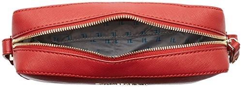 Trussardi Jeans Levanto Borsa a Tracolla, 25 cm, Nero Bordeaux