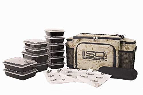 Isobag 6 Mahlzeiten Management System / Digital-Wüste Camouflage / Isolierte Mahlzeiten-Kühltasche - Isolator Fitness (Isobag 6 Meal-system)