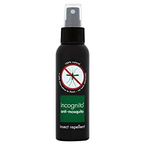 Incognito All Natural Deet Free Anti Mosquito Insect Repellent Spray (100Ml)