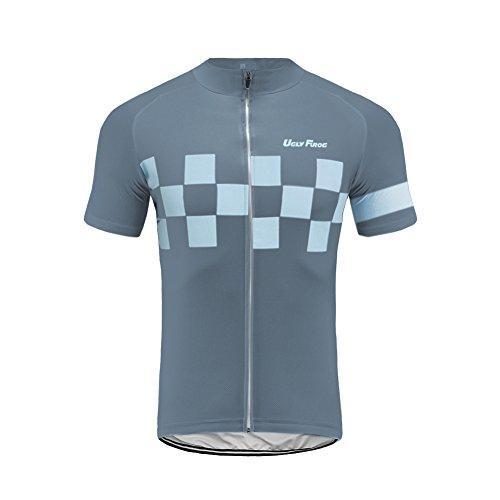 Uglyfrog Herren Radtrikot Top Kurzarm Schnelltrocknend Atmungsaktiv Fahrradbekleidung (Tops sind separat erhältlich) -