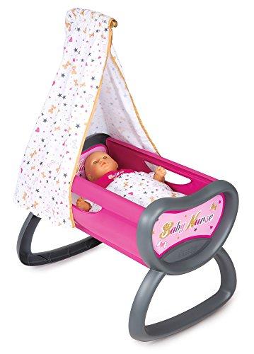 Smoby - 220311 - Baby Nurse - Bercelonnette - Lit pour Poupon - Drap Inclus