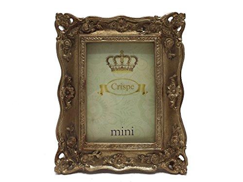 """Crispe Bilderrahmen """"Corleone"""" im Antik-Look in Antikgold Größe 10,5 x 13 cm - Bildmaß 6 x 9 cm Rahmen Bild Foto Barock"""