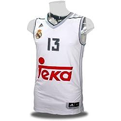 1ª equipacion Real Madrid de Baloncesto 2015-2016 - Camiseta oficial para hombre adidas, talla L