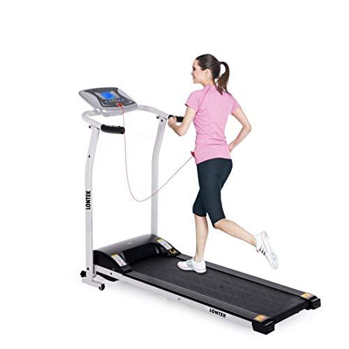 LONTEK elettrico tapis roulant pieghevole, velocità di 10km/h, con sensore di frequenza cardiaca motorizzato pieghevole per uso domestico running & Walking macchina