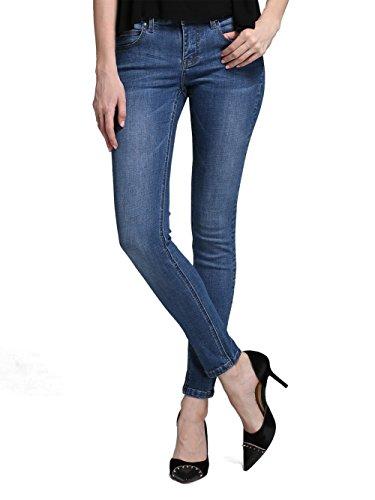 Alice & Elmer Damen Stretch Normaler Bund Slim Skinny Jeans Reiche Küsten Blau 30W x 30L (Baumwolle-jeans Reichen)