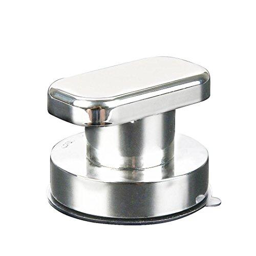 Chrom-glas-zahnbürstenhalter (LCLrute Bad Sicherheitsgriff Saugnapf Handlauf Grab Bad Grip Badewanne Dusche Bar Schiene (Silber))