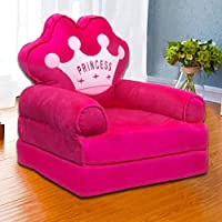 AWSM COLLECTION Kids Fiber Foldable Cartoon Princess Sofa Cum Bed Small Baby Sofa Chair for Room Decoration Gift Purpose…
