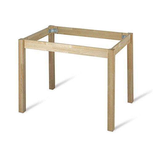 Tischgestell Universaltisch Fichte variable Länge von 800 bis 1800 mm