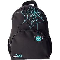 Mochila con detalle de araña. Color negro