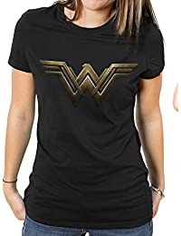Wonder Woman Women's Movie-Main Logo T-Shirt