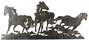 Young's Laser Cut Triple Horse Metal Wall Art, Multi-Colour, 27.5-Inch by Young's