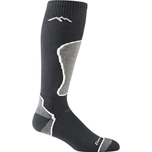 Darn Tough Vermont Men's Thermolite OTC Padded Cushion Socks, Black, Polar, L