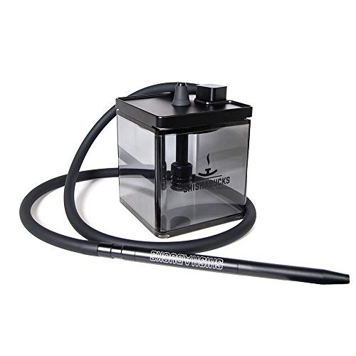 Cloud|Micro Modern Hookah with a Bag - Modern and Portable ... (Double Black)