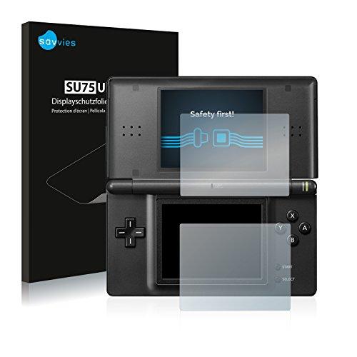 Savvies Nintendo DS Lite Schutzfolie [18er Pack] - Folie Displayschutzfolie klar Displayfolie