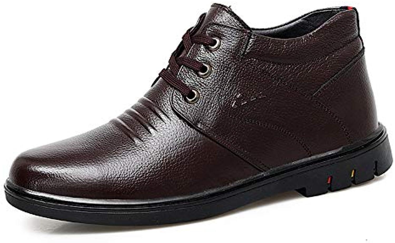 BND-scarpe , Stivaletti alla Moda da Uomo Casual Punta Tonda Comoda Stivali Alti Foderati in Pile di Mezza età... | Imballaggio elegante e robusto  | Uomo/Donna Scarpa