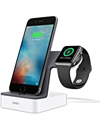 Belkin PowerHouse Ladestation (mfi zertifiziert, geeignet für Apple Watch Series 1 und Series 2 und iPhone 5, iPhone 6/6s/6 Plus/6s Plus, iPhone 7/7 Plus) weiß