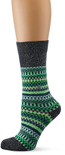 Burlington Damen Socken Fair Isle, Mehrfarbig (Dark Navy 6370), 36/41