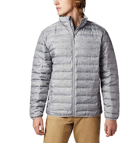 Columbia Herren Lake 22 Down Jacket Kapuzendaunenjacke, Grey Heather, L