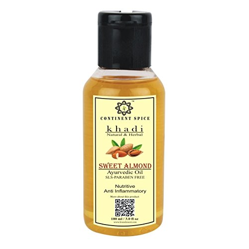 CONTINENT SPICE khadi SWEET ALMOND OIL, badam oil 100 ml