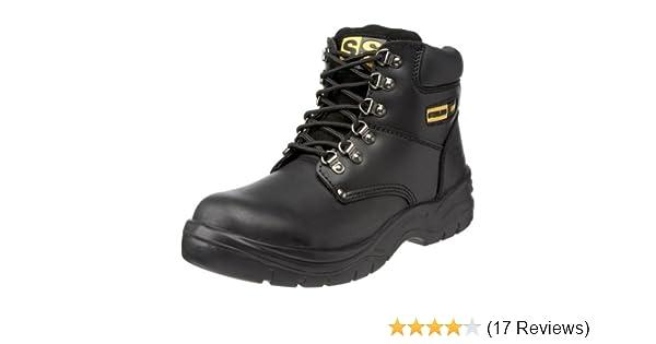Sterling Steel Unisex-Adult SS806SM Safety Boots Black 3 UK Wide
