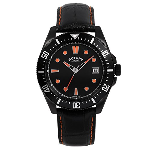 Rotary-Mens-Quartz-Watch-with-Black-Dial-Analogue-Display-and-Black-Leather-Strap-GS0032004