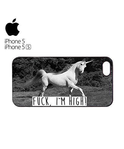 Unicorn F*ck I am High Hipster Swag Mobile Phone Case Back Cover Hülle Weiß Schwarz for iPhone 6 Black Weiß
