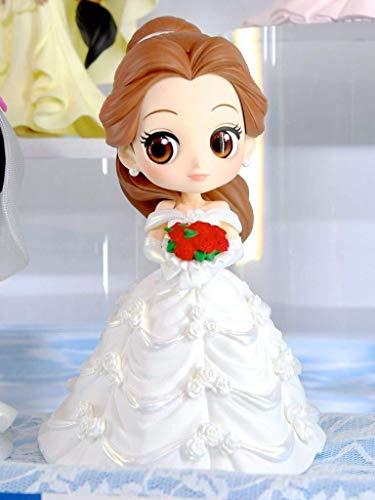 Figura de Colección Belle 14cm Vestido de Novia Blanco - La Bella y la Bestia - Serie QPOSKET Banpresto Disney Characters Dreamy Style - Versión B
