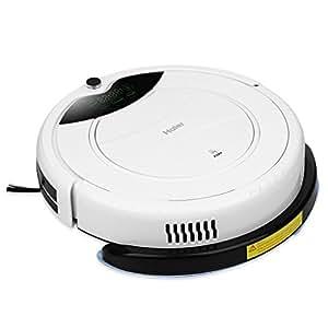 Haier T320 Aspirapolvere Robot Digitale con LED Display, Bianco
