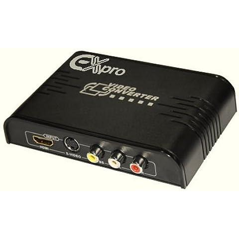 Ex-Pro av-pro RCA AV Audio y vídeo/S-VHS y salida de conversor HDMI a HDMI con escalador