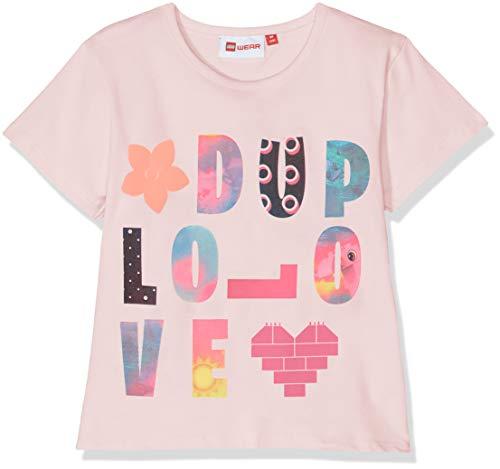 Lego Wear Baby-Mädchen Duplo Girl Thelma 323-T-SHIRT T-Shirt, Rosa (Rose 404), Herstellergröße: 80 -