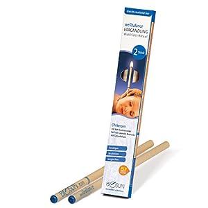 BIOSUN wellbalance Ohrkerzen/Ohrenkerzen mit Sicherheits-Filter. Faszinierender Duft von Lavendel, Rosmarin und Gurjunbalsam