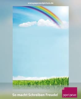 Reise Natur Himmel Motivpapier Wolkenreise im Ballon 90g//qm 20 Blatt Briefpapier DIN A4
