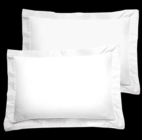 Luxus Hotel & Spa Kissen shams-white mit Flansch 100% ägyptische Baumwolle Fadendichte 300(53,3x 66cm Standard) - Baumwolle Ägyptische Hotel Sham