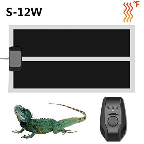 delibett Reptil Heizmatte, Terrarium Heizmatte, Heizung Heizer Reptil Heizkissen Amphibien Pet Bodenheizung Heizfolie Wärmematte Reptilien für Aquarien -