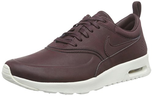 Nike Wmns Air Max Thea Prm, Baskets Basses Femme Rouge - Rot (200 MAHOGANY/MAHOGANY-TEAM RED-SL)