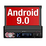 PUMPKIN Android 9.0 Autoradio 1 DIN GPS Ecran Tactile numérique 7 Pouces Navigation de Voiture supporte Bluetooth WiFi 3G USB SD Commande au Volant Radio RDS OBD2 Dab+