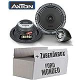 Ford Mondeo MK4 BA7 Front Heck - Altavoces Axton ATC165, 16 cm, Sistema de 2 vías, Accesorios de Montaje, Kit de instalación
