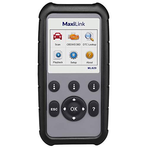 Autel MaxiLink ML629 Diagnosegerät KFZ, schneller OBD2-Diagnose alle Funktionen inkl. ABS/SRS/Engine/Transmission testen, VIN Nummer automatisch auslesen, unterstützt OBDII & CAN [Deutsch Version]