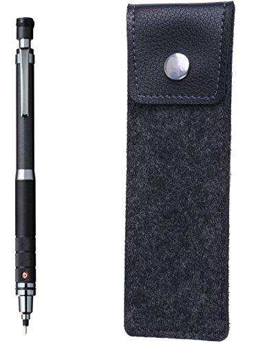(uni Kuru Toga Gun Metallischer Druckbleistift mit schwarzem Filzstift (schwarz))