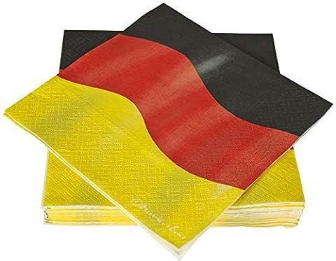Servietten Deutschland, 3-lagig, 33x33 cm, 20 Stk.