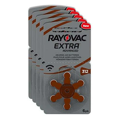 Rayovac Extra Advanced Zink Luft Hörgerätebatterie (in der Größe 312er Pack, mit 30 Batterien, geeignet für Hörgeräte Hörhilfen Hörverstärker) braun (Hörgeräte-braun-batterien)