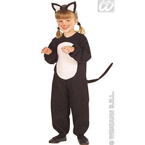 Widmann-WDM5546C Kostüm für Mädchen, Schwarz, WDM5546C