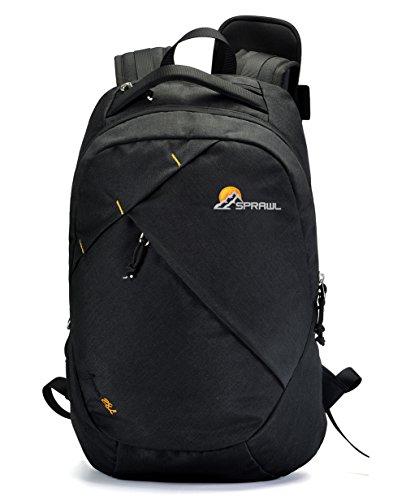 Rucksack Damen, SPRAWL 28L Rucksack Laptop Wasserdicht Schulrucksack Backpack Schwarz